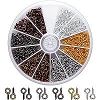 AIEX Oogschroef oogstiften voor het maken van sieraden ringschroeven voor doe-het-zelf handwerk oogschroeven voor het…