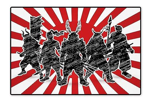 Alfombra Antideslizante para niños, Grupo de Samurai Ninja ...