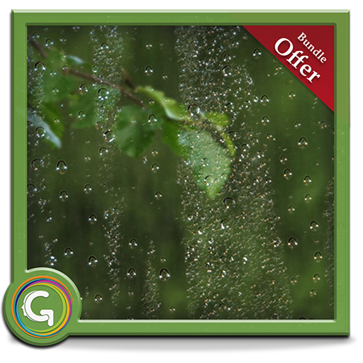 Greenish Rains HD - Set Romantic Rainy Scene on your TV (Scene Screen)