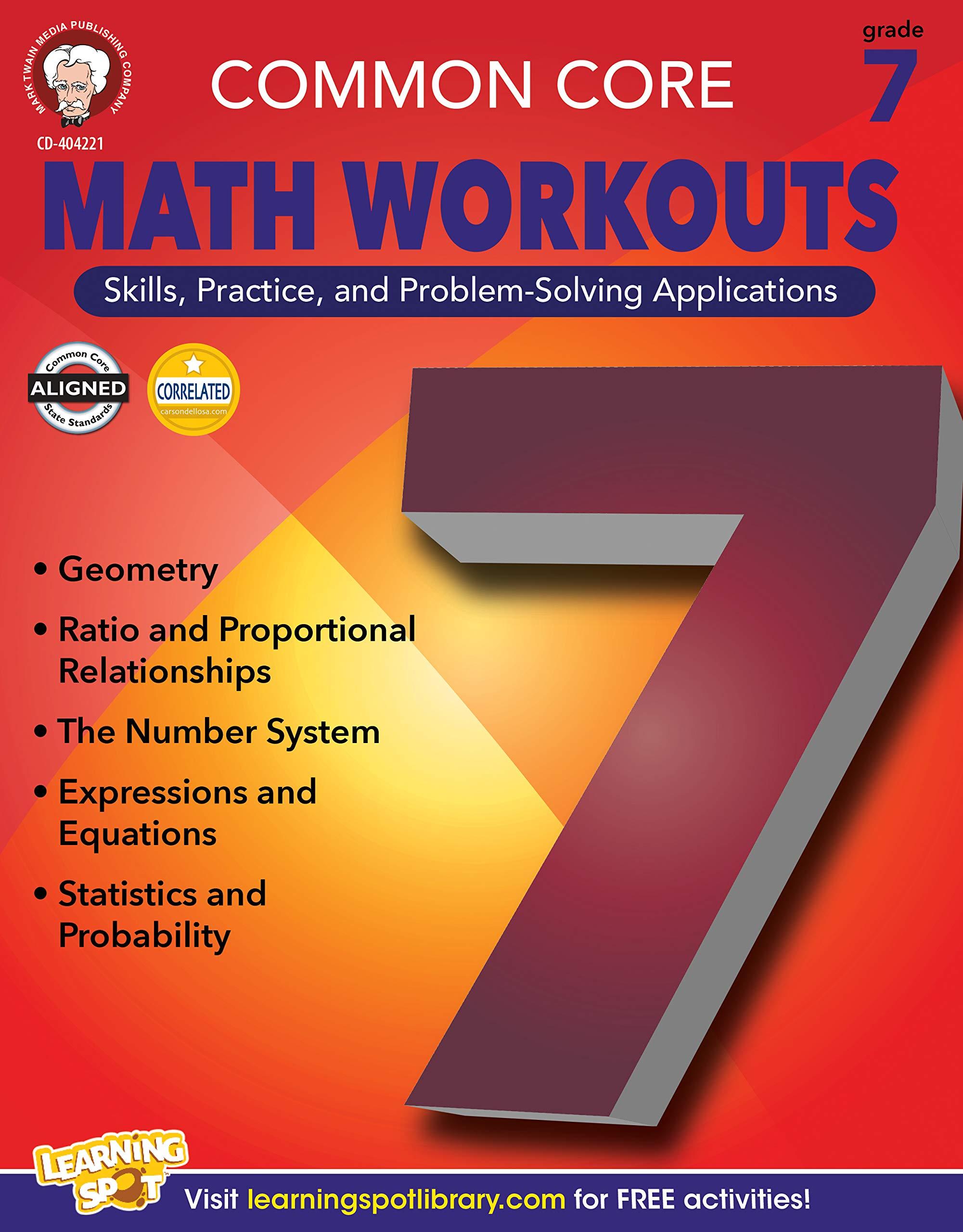 mark twain math computer sample test