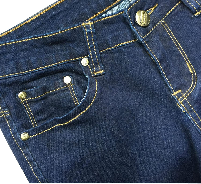 Alisa.Sonya Women's Plus-Size Skinny Spandex Lower Waist Ripped Jeans