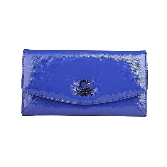 Cartera Benetton JUMPSTYLEPATENT BEWPU0000040 03 azul - mujer - TU: Amazon.es: Zapatos y complementos