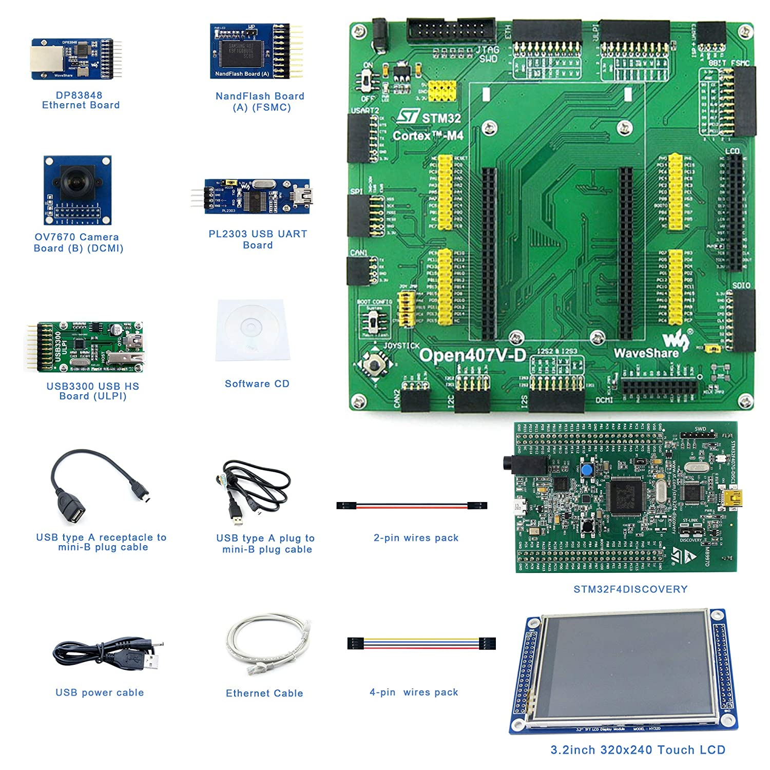 Amazon com: Designed for the STM32F4DISCOVERY, Features the