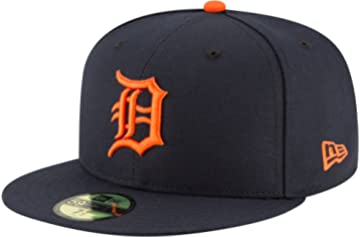 bd3cb4bde9662 New Era 59Fifty Hat Detroit Tigers MLB Authentic Road Navy Blue Fitted Cap