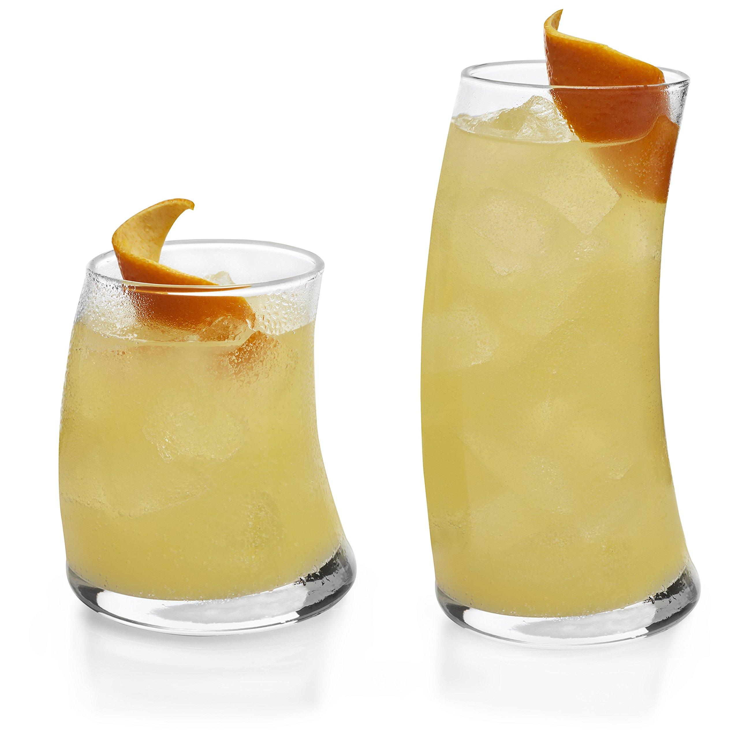 Libbey Swerve 16-piece Drinkware Glass Set