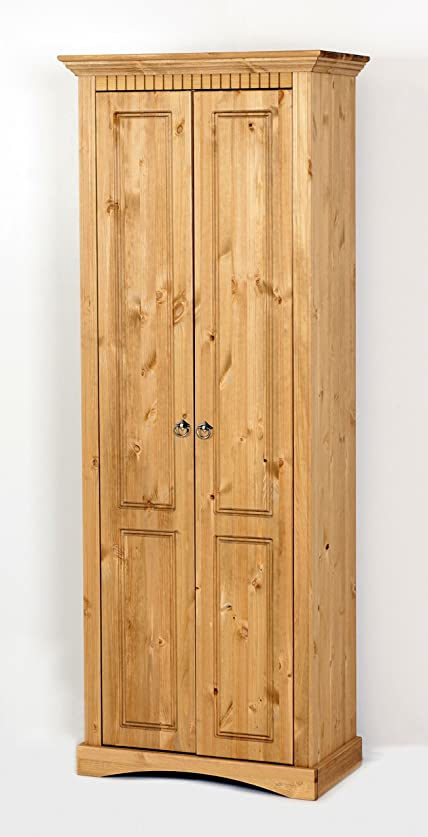 Armadio guardaroba in legno massello pino, armadio: Amazon.it ...