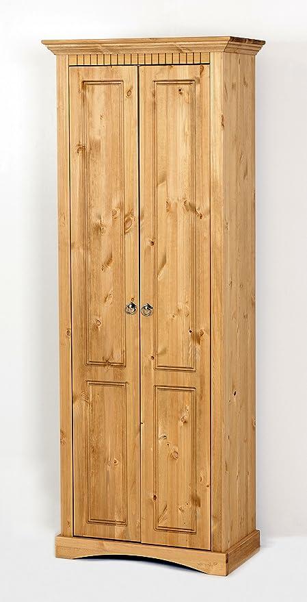 Armadio guardaroba in legno massello pino, armadio: Amazon.it: Casa ...