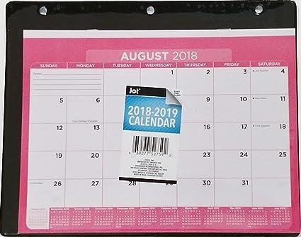 amazon com 2018 2019 monthly planner calendar in plastic sleeve