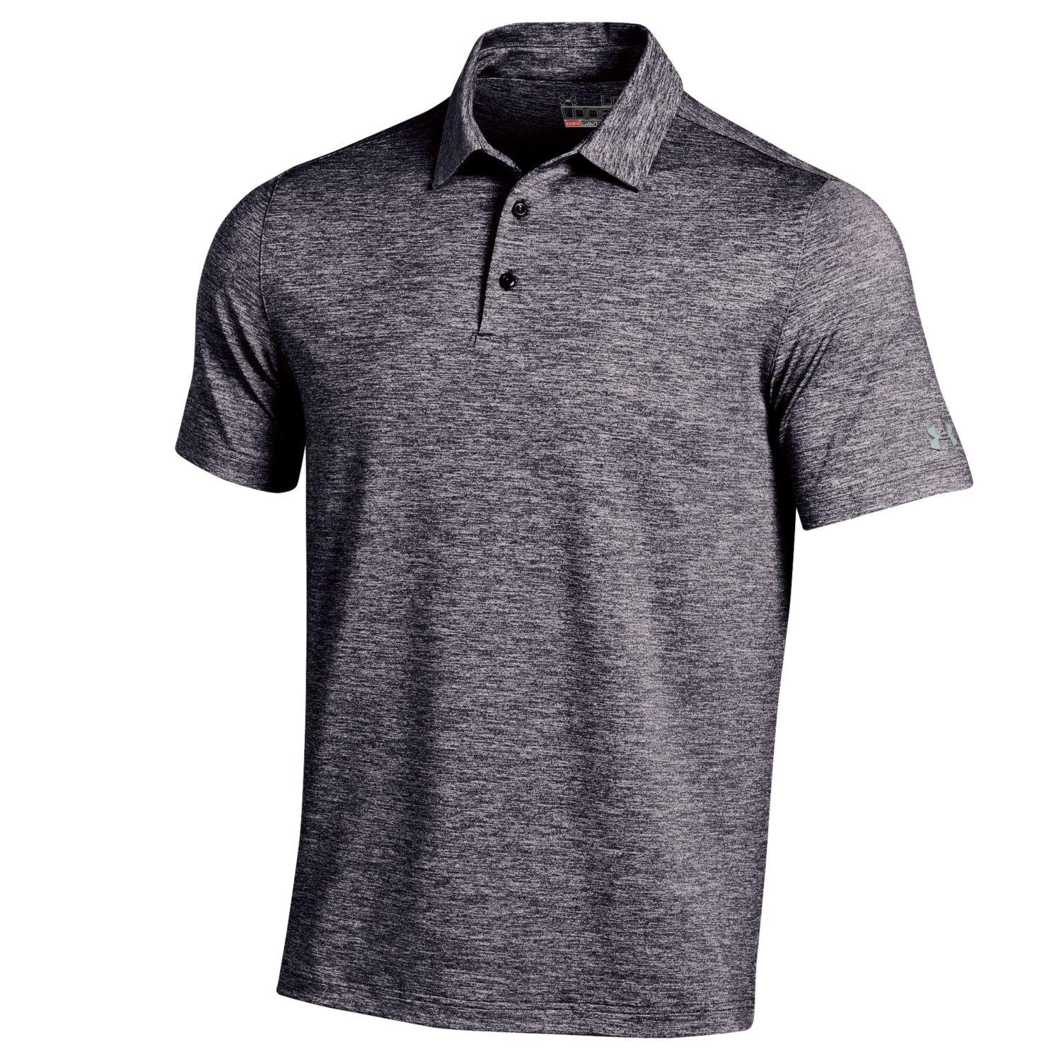 Under Armour Elevated Heather Golf Polo 2016 Black X-Large