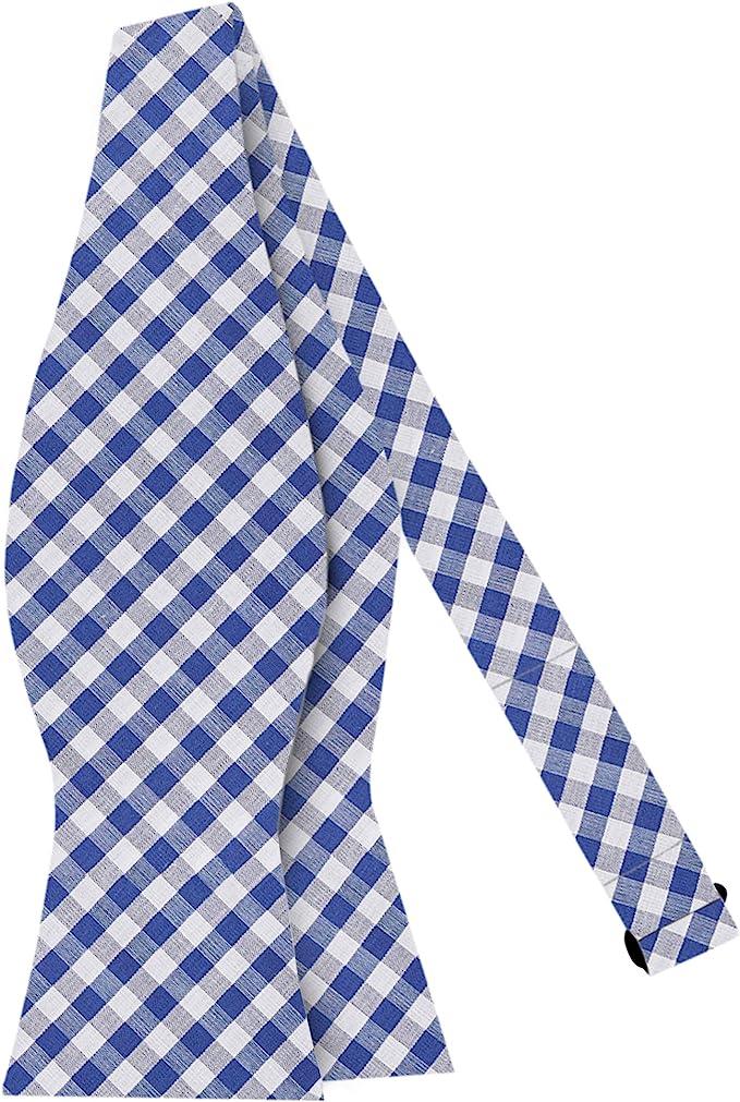History of 1920s Men's Ties, Neckties, Bowties Jacob Alexander Mens Gingham Checkered Pattern Self-Tie Bow Tie $16.95 AT vintagedancer.com
