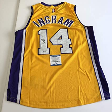 b2b74143e64 Brandon Ingram Autographed Signed Jersey Bas Beckett Authentic Los Angeles  Lakers Autographed Signed