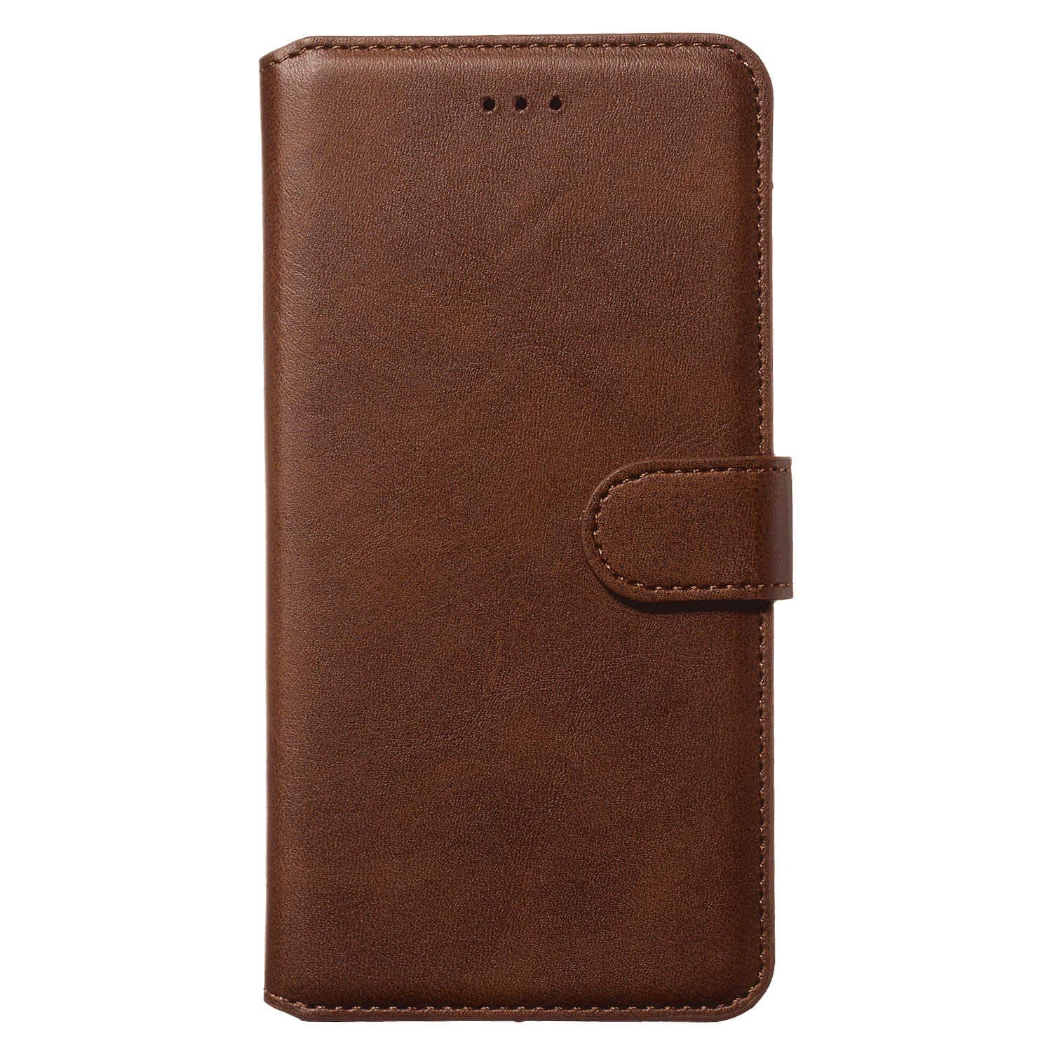 Leather Flip Case Fit for Samsung Galaxy A50 Brown Wallet Cover for Samsung Galaxy A50
