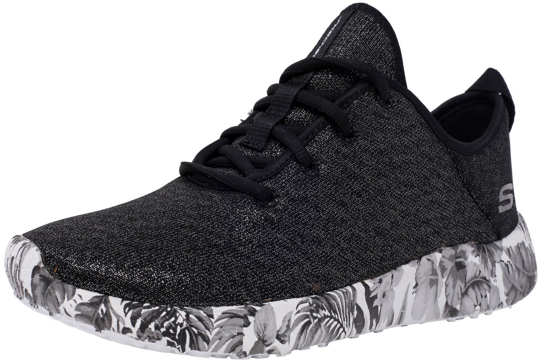 Skechers Women's Burst - Fine Vines Black/White Ankle-High Fashion Sneaker 7.5M