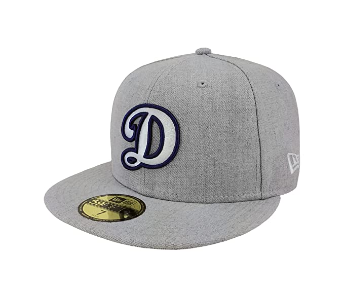 New Era 59Fifty Hat MLB Los Angeles Dodgers Fitted Baseball Heather Gray Cap  (7 1 02ba5d33e731