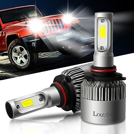 Loutsbe 2x 9005 HB3 LED Faro Bombillas Alquiler de luces LED 60W 8000Lm LED lámpara con