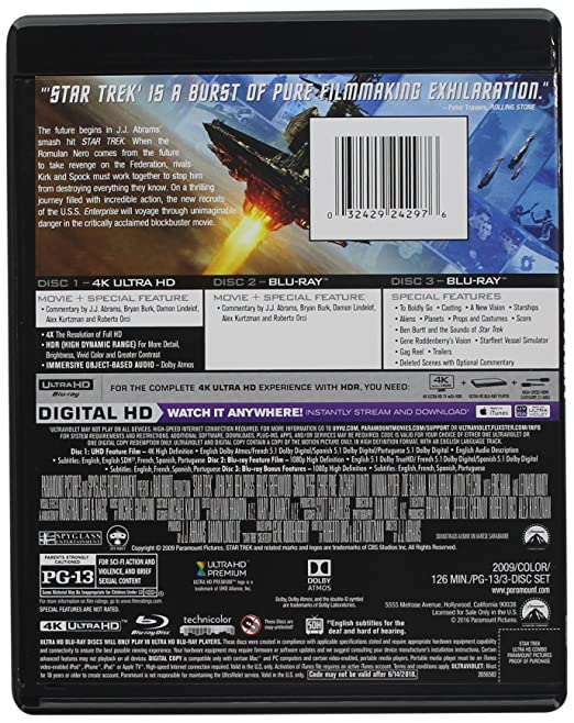 Amazon Com Star Trek Xi Blu Ray Star Trek Xi Movies Tv