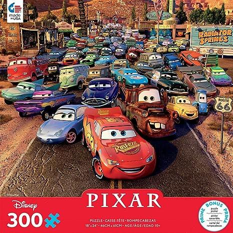 Disney PIXAR Cars Cardinal Games Jigsaw Puzzle Neon Racers Cup Theme 24 Pieces