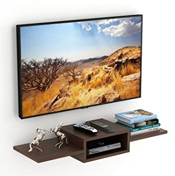 cea02ca5763 Bluewud Aero TV Entertainment Unit Wall Set Top Box Stand Shelf (Standard  Wenge)  Amazon.in  Home   Kitchen