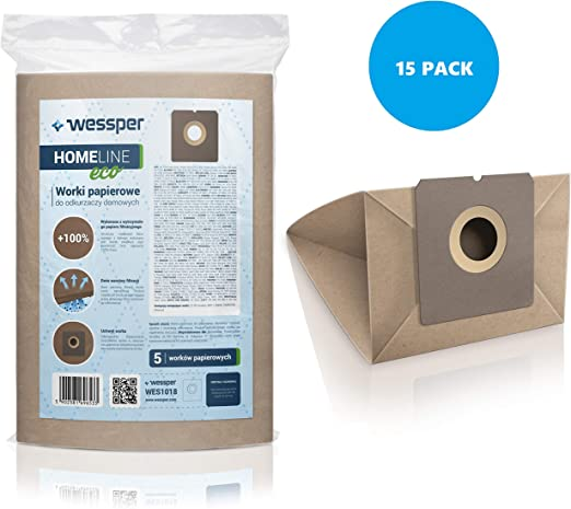 Wessper 15x Bolsas para aspiradora UFESA AT 4206 (Papel): Amazon ...