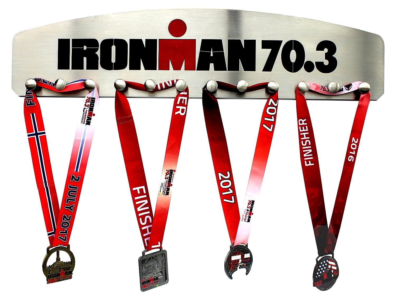 Ironman 70.3 – 12 Pegメダルハンガー表示 B073495TZP