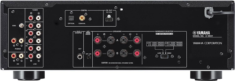 Amazon.com: Amplificador de sonido Yamaha A-SX01BL A-S501 ...