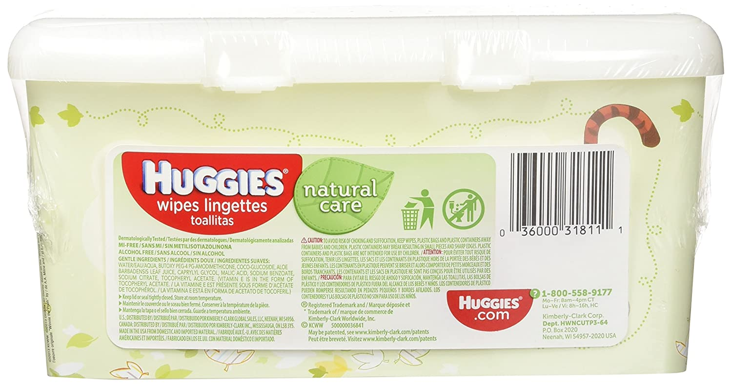 Huggies Natural Care Unscented Baby Wipes Tub - 64ct by Kimberly-Clark: Amazon.es: Salud y cuidado personal