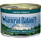 Natural Balance Ultra Premium Wet Dog Food with Real Meat & Brown Rice