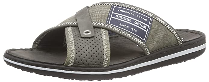 21064, Mules Homme, Gris (Cement/Smoke/Royal), 43 EURieker