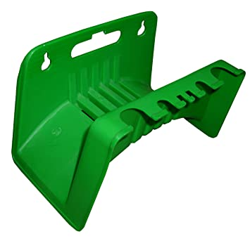 WALL MOUNTED GREEN GARDEN HOSE HOLDER BRACKET CAN USE IN SHED FOR