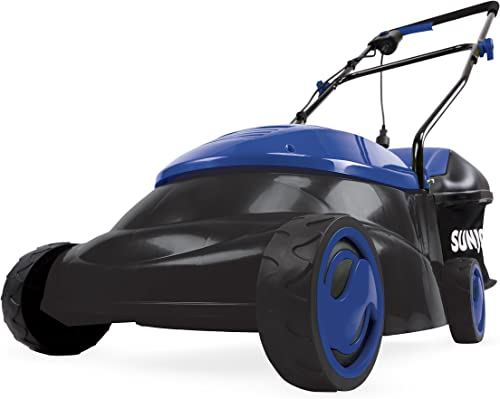 Sun Joe MJ401E-SJB Mow Joe 14 12 Amp Electric Lawn Mower with Grass Bag, Dark Blue
