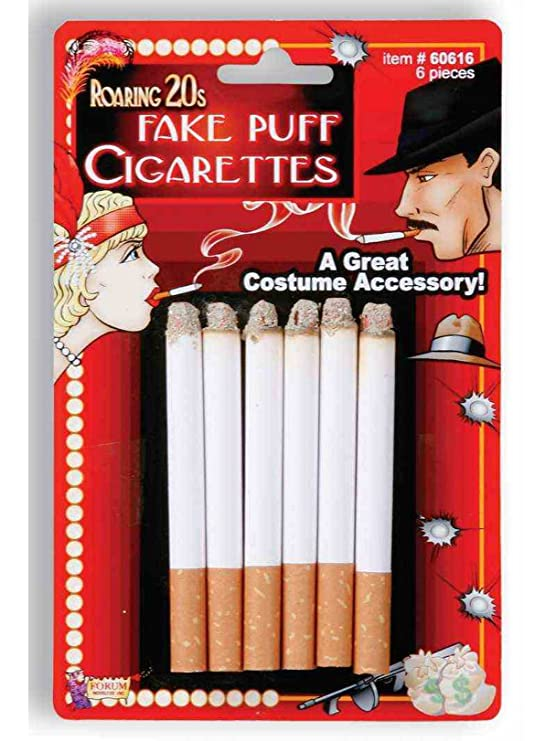 1920s Costumes: Flapper, Great Gatsby, Gangster Girl Fake Cigarette Pack $3.83 AT vintagedancer.com