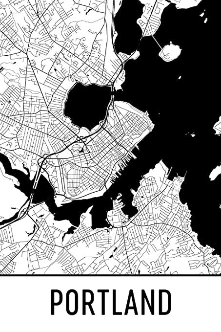 Amazon.com: Portland Poster, Portland Art Print, Portland ... on saco maine, waterville maine, york maine, calais maine, old orchard beach maine, lewiston maine, fort kent maine, google maps maine, moosehead lake maine, madawaska maine, cities in maine, chelsea maine, old town maine, blue hill maine, skowhegan maine, caribou maine, detailed map maine, lowell maine, ellsworth maine, airports in maine,