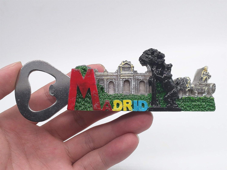 Madrid España 3D Frigorífico Imán Abrebotellas Recuerdos de viajes ...