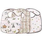 Little Unicorn Cotton Classic Bib 3 Pack - Forest Friends