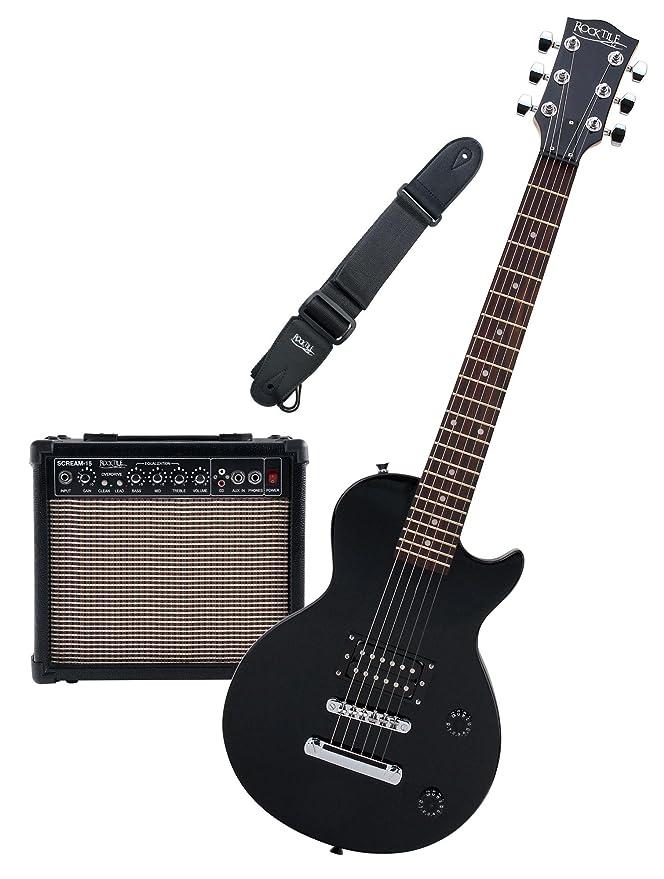 Rocktile L-50B Junior escala 3/4 guitarra eléctrica set con amplificador, correa y cable: Amazon.es: Instrumentos musicales