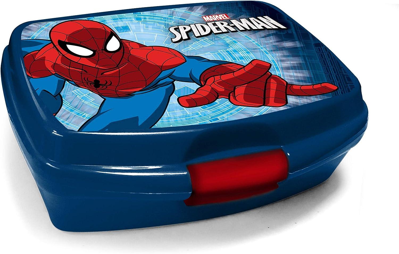 Familando Schulranzen-Set Marvel Spiderman 16 TLG gro/ße Schult/üte 85cm und Regenschutz Dose mit Federmappe Flasche