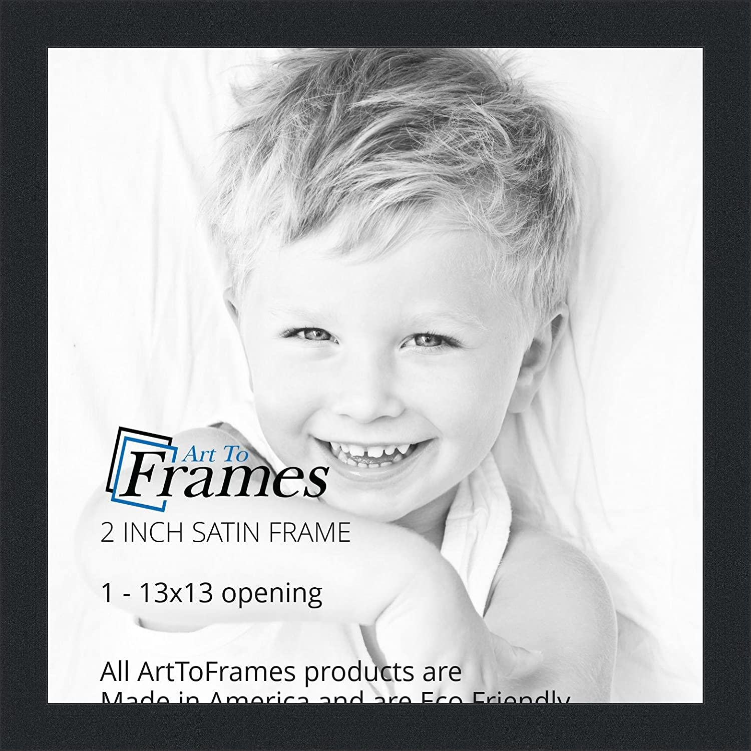 Amazon.com - ArtToFrames 13x13 inch Satin Black Picture Frame ...