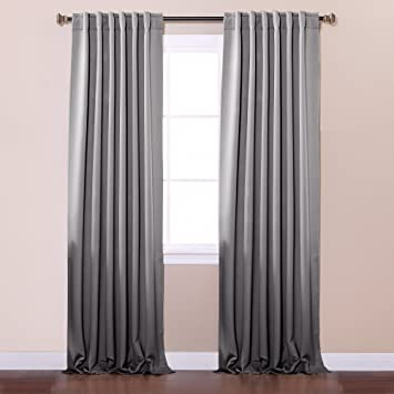 Best Home Fashion Thermal Insulated Blackout Curtains   Back Tab/ Rod  Pocket   Grey