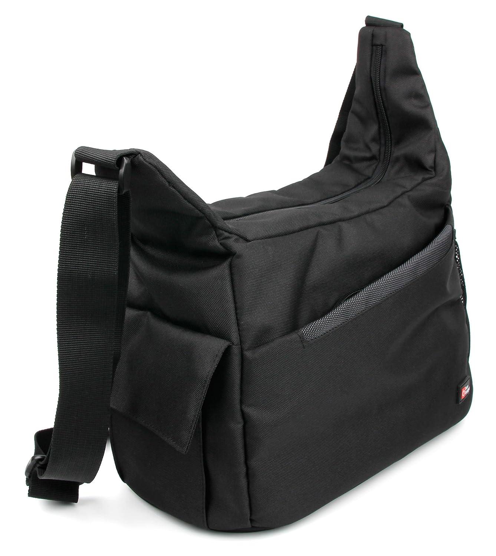 Compatible with DBPOWER N5 4K Action Cam DURAGADGET Premium Quality Shoulder Sling Bag in Black /& Orange
