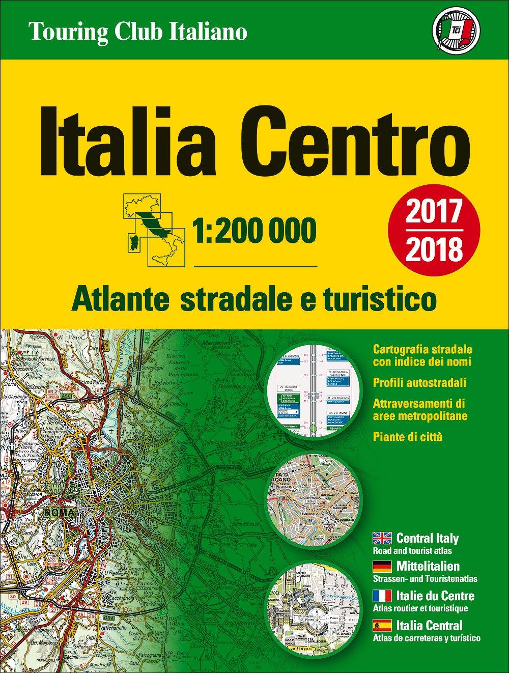 Italy Central Atlas - Atlante Stradale Centro: TCI.A2