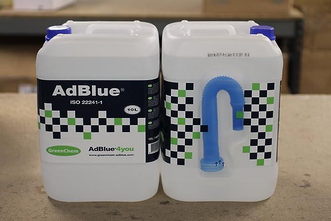 Greenchem Adblue 2 latas de 10 l con boquilla (20 l en total): Amazon.es: Coche y moto