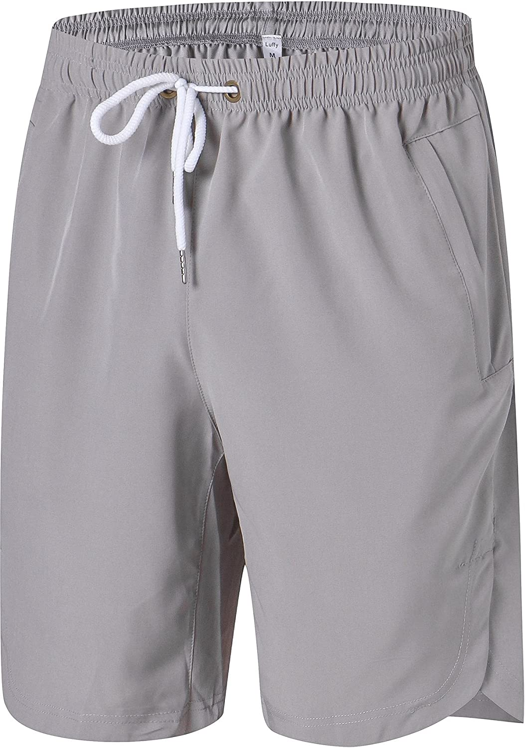 4f1200a089 Mens Athletic Gym Shorts Elastic Waist - Quick Dry Stretchable for Running,  Training, Workout Swim Trunks for Watersports - Beige -: Amazon.co.uk:  Clothing