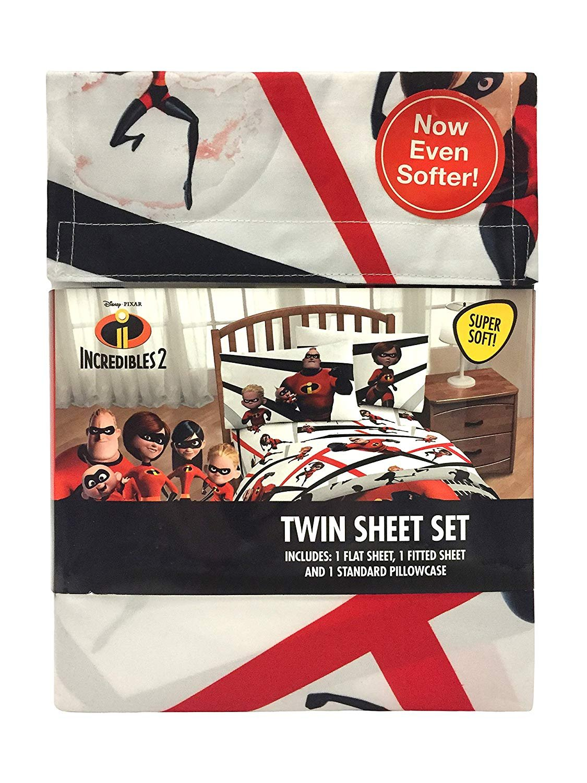 Incredibles Disney Pixar The Racing Twin 6 Piece Bedding Set