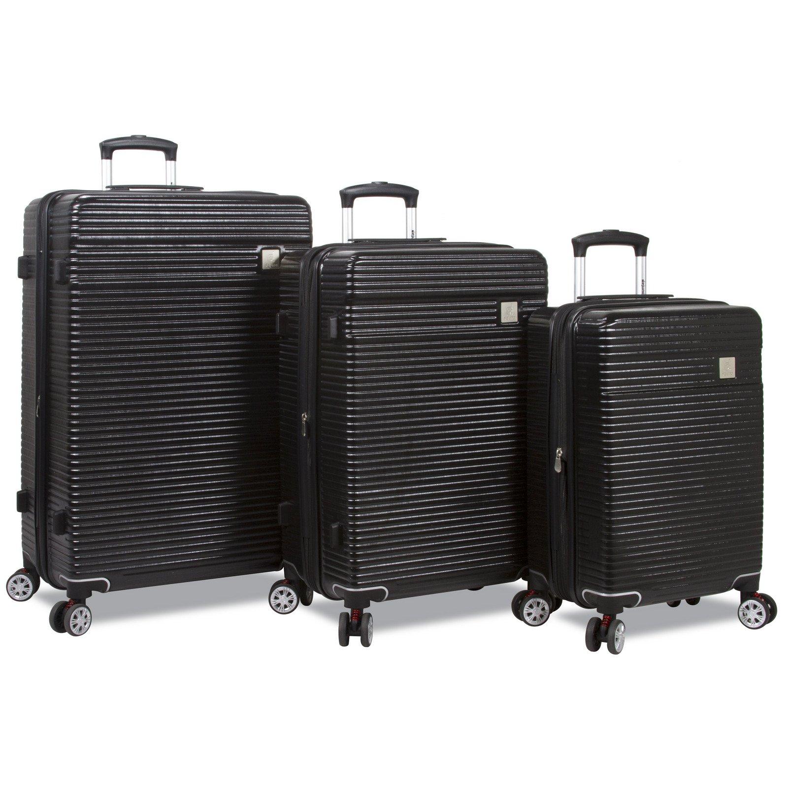 Dejuno Ashford 3-pc Hardside Spinner TSA Combination Lock Luggage Set-Black by Dejuno