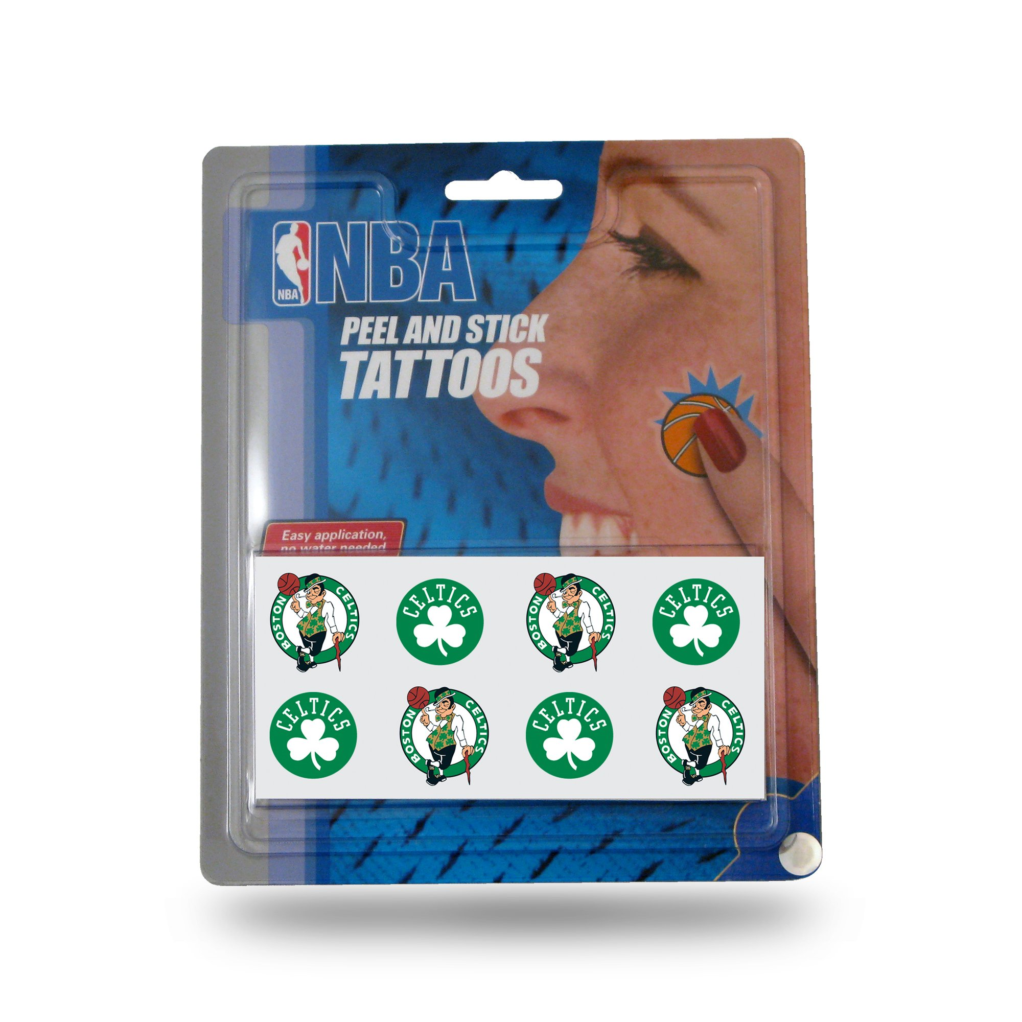 NBA Boston Celtics Face Tattoos, 8-Piece Set