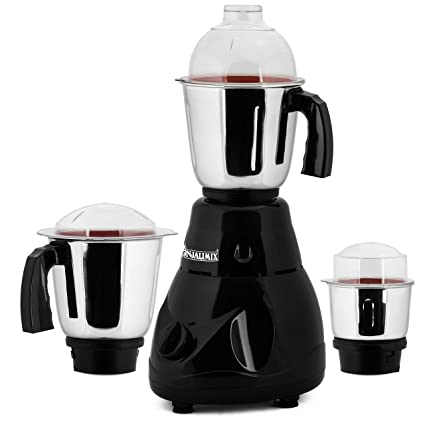 ANJALIMIX Mixer Grinder Avion 1000 WATTS with 3 Jars (Black), Dry, Wet, Chutney