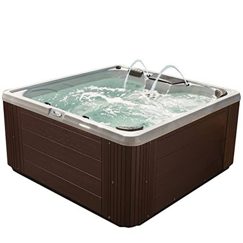Essential Hot Tubs 30-Jet Adelaide Hot Tub, Seats 5-6, Espresso