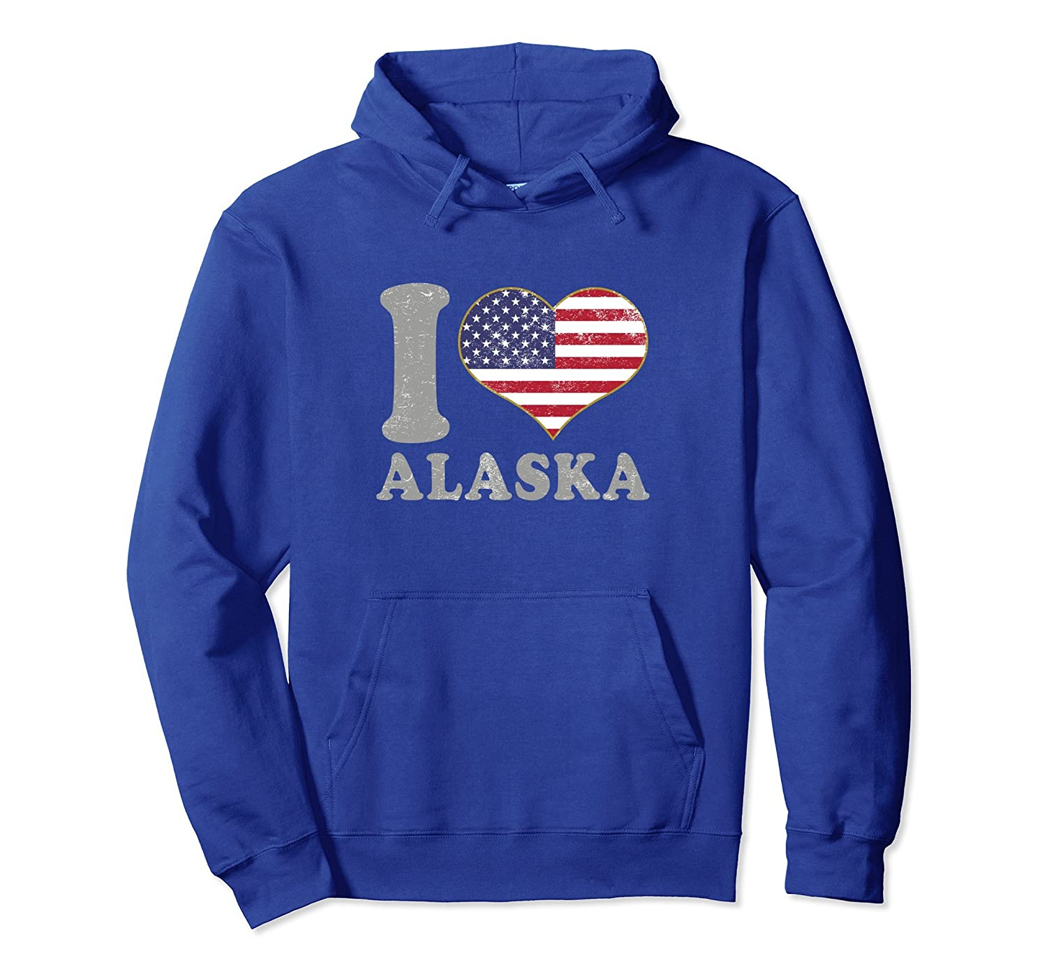 Alaska Hooded Sweatshirt Clothing State Pride Fishing Hiking-AZP