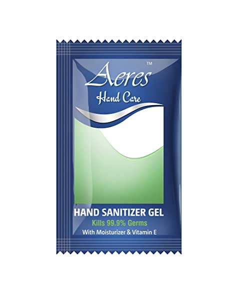 Aeres 1ml Hand Sanitizer Gel Pouch Pack Of 300 Amazon In