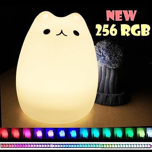 35 opinioni per InnoBeta Dondidondy LED Luce Notturna bambini gatti Luce dell'umore in Silicone